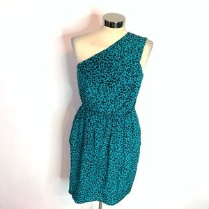 Shoshanna silk leopard draped dress